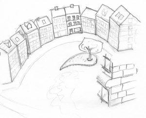City square sketch